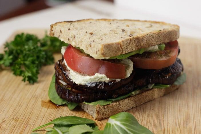 Eggplant Mushroom Sandwich-2
