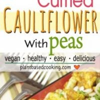 Roasted Curry Cauliflower with Peas