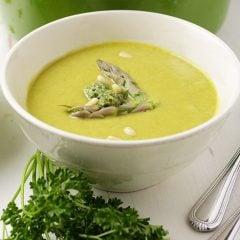 Asparagus Zucchini Pea Soup