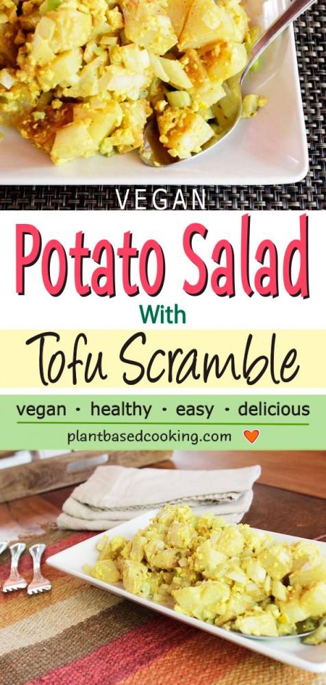 Potato Salad with tofu Scramble