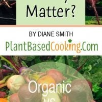 Beets-Fresh root vegetables on display with Text Does organic really matter? Organic vs Non-Organic by Diane Smith