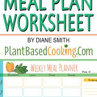 weekly meal planner worksheet