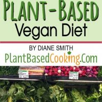 "fresh vegetables on shelf with text overlay "" How to save money on a plant-based vegan diet"""