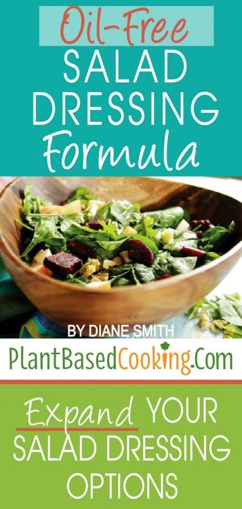 Oil-free Salad Dressing Formula sheet
