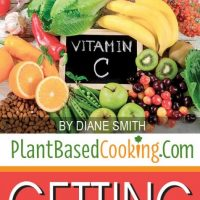 """fresh fruit with text overlay Plant-Based Nutrition Getting it right"""" plantbasedcooking.com"""