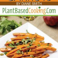 """""""Moroccan Roasted Carrots by Diane Smith of plantbasedcooking.com"""""""