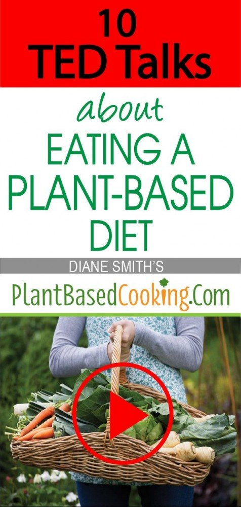 """""""10 TED Talks about Eating Plant-Based Diet Article by Diane Smith of PlantBasedCooking.com"""""""