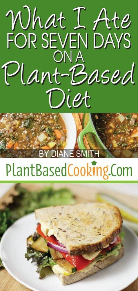 """""""What I Ate for Seven Days on a Plant-Based Diet Article by Diane Smith of Plantbasedcooking.com"""""""