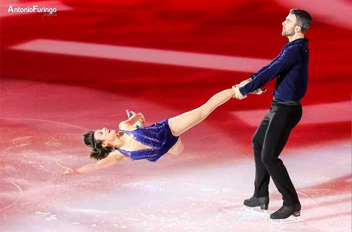 Meagan Duhamel Olympic Skater with her partner on the Ice