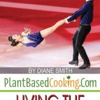 """Meagan Duhamel iceskating, an article about """"Living the Plant-Based Dream"""", plantbasedcooking.com"""