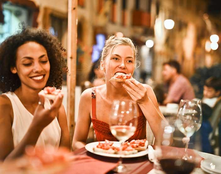 Friends Enjoying Pizza