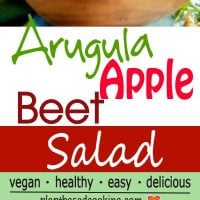 Arugula, apple-beet salad