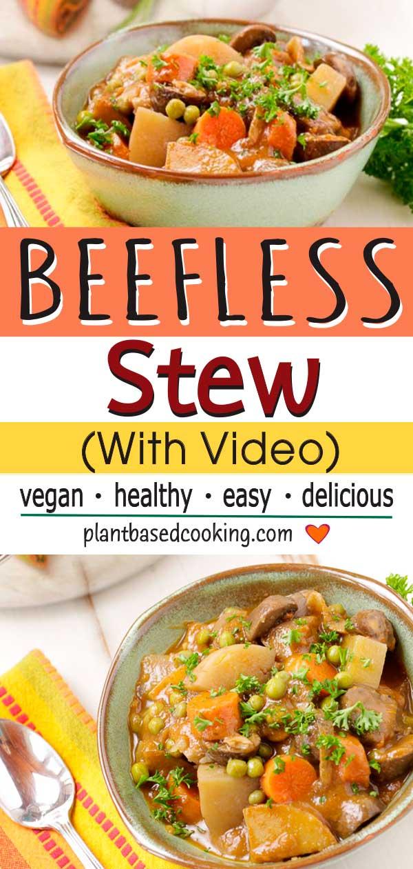 Vegan Beefless Stew, plantbasedcooking.com