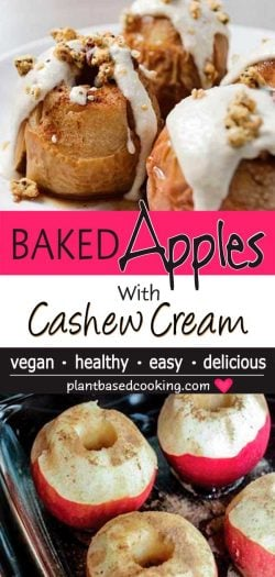 baked apples with cashew cream