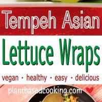 Tempeh Asian Lettuce Wraps