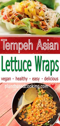 Tempeh Asian Lettuce Wraps