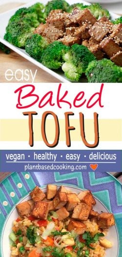Baked Tofu with Broccoli or Vegged Riced