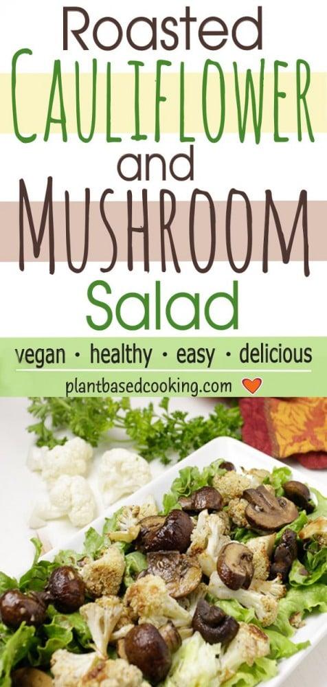 Roasted Cauliflower and Mushroom Salad