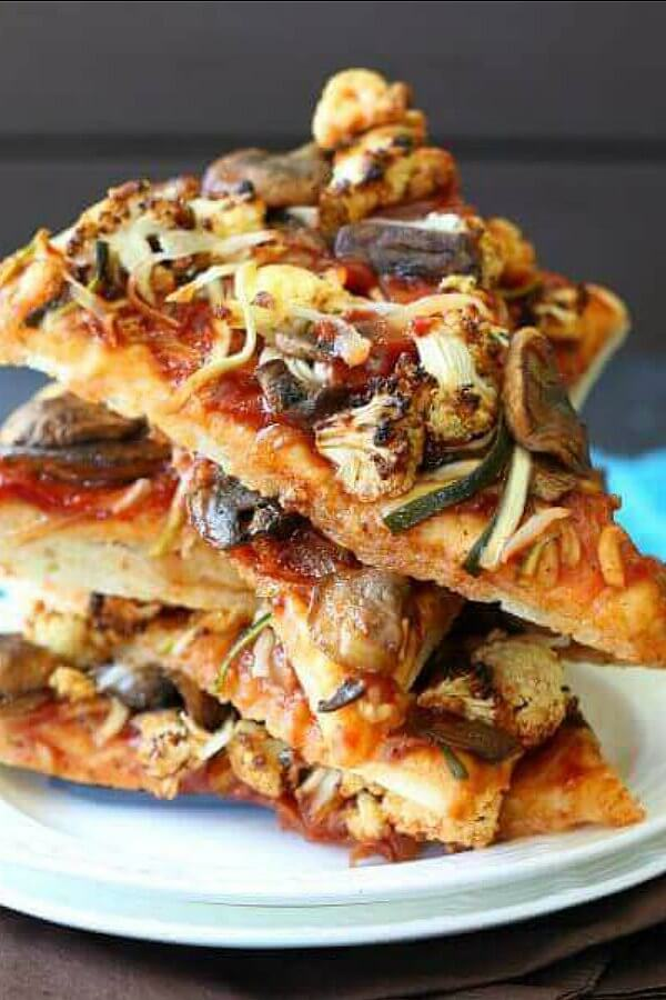 Vegan-BBQ-Veggie-Pizza