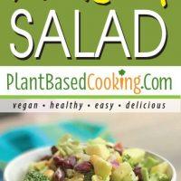 Broccoli Waldorf Salad from plantbasedcooking.com, vegan, healthy, easy, delicious