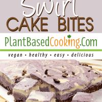 Cherry Vanilla Swirl Cake Bites