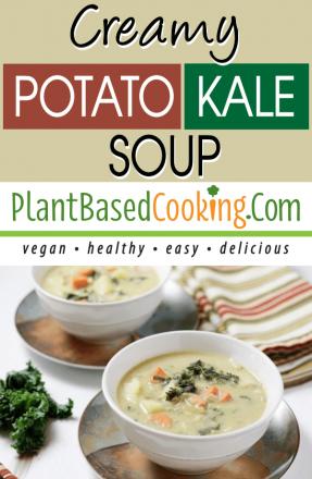 2 bowls of Creamy Potato Kale Soup