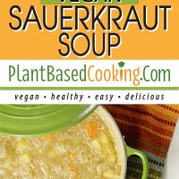 Creamy Vegan Sauerkraut Soup