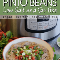 bowl of instant pot refried pinto beans