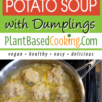 Irish Cabbage Potato Soup with Dumplings