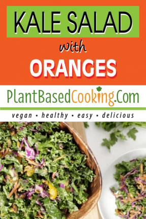 vegan kale sald with oranges