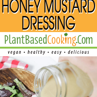 oil-free homemade honey mustard dressing salad