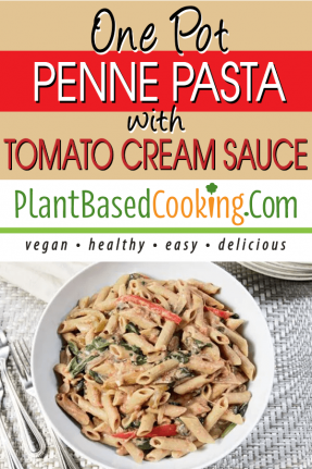 One Pot Penne Pasta with Tomato Cream Sauce
