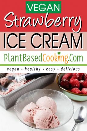 Vegan Strawberry Ice Cream