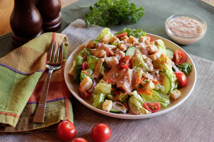 Thousand Island Dressing on salad