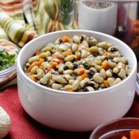 Black Eyed Peas in White Bowl