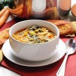 Vegetable Noodle Soup with Soy Curls