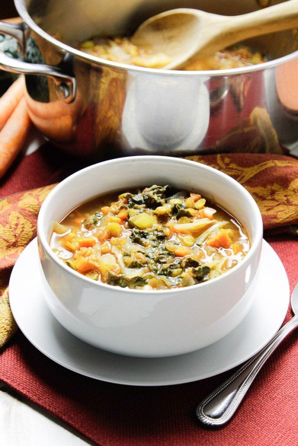 Vegetable Noodle Soup with Soy Curls 2
