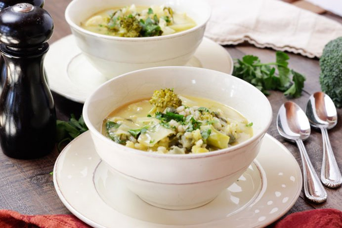 Asian Vegetable Barley Soup