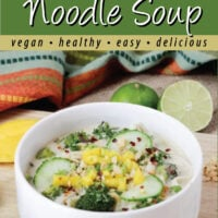 Lime and Mango Noodle Soup pin.