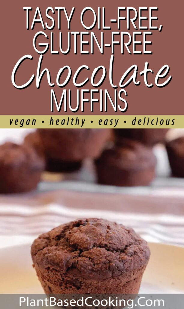 Tasty Oil-Free Chocolate Muffins pin.